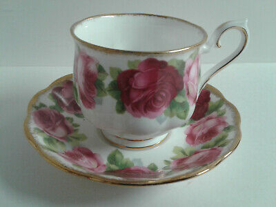 Royal Albert Bone China Old English Rose Tea Cup & Saucer