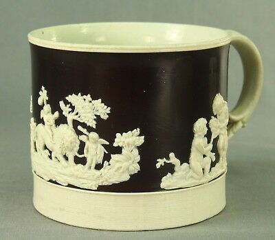 ! 1806-1815 British WEDGWOOD Stoneware White/Brown Mug Cup J. MIST
