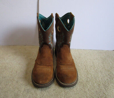 3ddfba6a7e5 ARIAT 10016245 WOMEN'S Fatbaby Cowgirl Composite Toe Work Boots Size 8 1/2 B