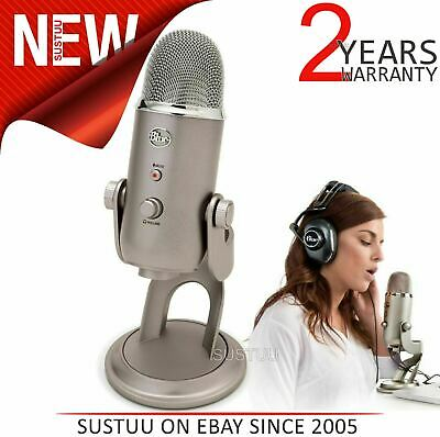Blue Yeti USB Microphone|Combining 3 Capsules & 4 Pattern Settings|Platinum|NEW
