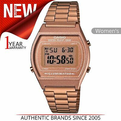 Casio Classic Ladies Digital Watch│Stainless Steel Band│Rose Gold│B640WC/5AEF