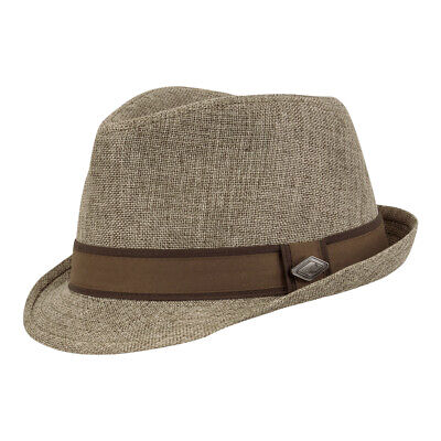 Chillouts Uomo Cappello Sacramento Trilby Fedora City Hat Uomini Berretto Estate