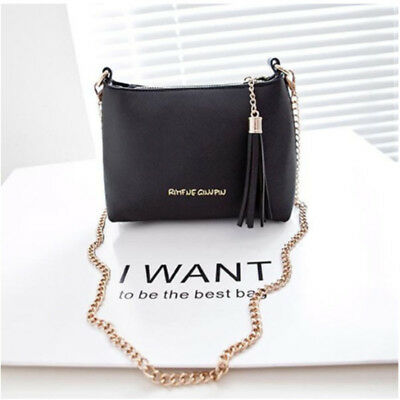 Women Ladies Tassel Bag Shoulder Handbag Small Shell Candy Chain Bag Bags B