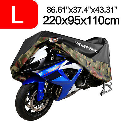 L Motorcycle Cover Waterproof Outdoor Protector For 150CC Scooter Street Sport