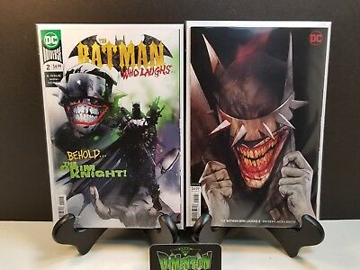 BATMAN WHO LAUGHS #2 Covers A & B Set GRIM KNIGHT JOCK SNYDER OLIVER VARIANT NM