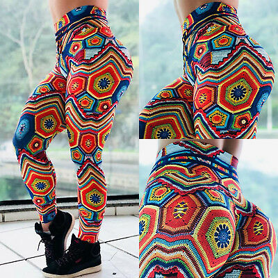 Hot Women's Yoga Fitness Leggings Running Stretch Sports Pants Trousers Exercise