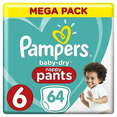 Pampers Baby Dry Pants Couches-Culottes Taille 6 (+15 kg) Mega Pack 64 Culottes