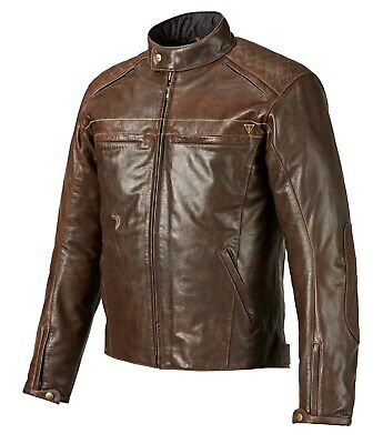 GENUINE Triumph Motorcycles Restore Classic Brown Leather Jacket 50% OFF RRP