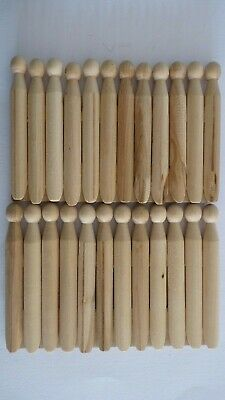 Wooden Dolly Pegs 11cm Arts & Crafts, Laundry