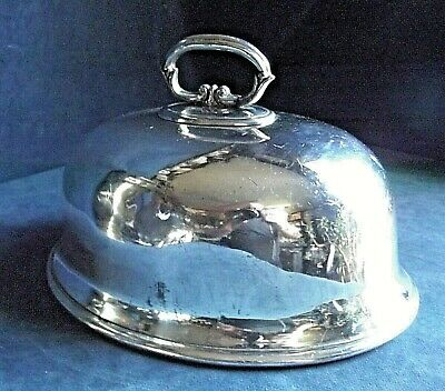 "GOOD 10"" ~ SILVER Plated ~ Food COVER Dome ~ c1900"