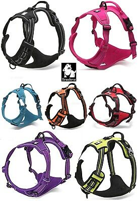 TRUELOVE Dog Puppy Harness Padded Adjustable & Reflective Dogs Harnesses 5 Sizes