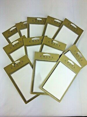 Crane & Co. Lot 12 Place Cards Gold & Silver Trim Boarder 120 Setting Vintage