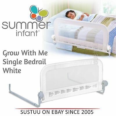 Summer Infant Grow With Me Single Bedrail│Baby Kid's Bed Safety Guard Rail│White