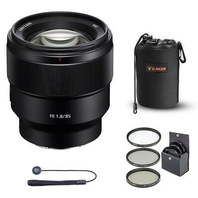 Sony FE 85mm F1.8 E-Mount Lens With free Accessory Bundle #SEL85F18 A