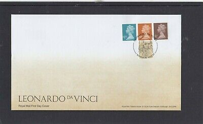 GB 2019 Machin Definitives 5p 10p £1.55 M18L MPIL ex Da Vinci Prestige SB RM FDC
