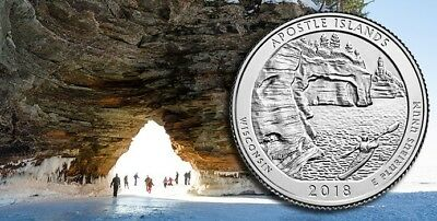 2018 P&D Apostle Islands  National Lake Shore Park Quarter Coins U.S.Mint Coin