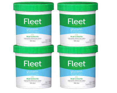 Suppositorie s Laxative Fleet Glycerin 100 count  Pack of 4 ,fast acting