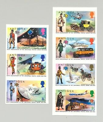 Antigua #334-340 UPU, Helicopters, Ships, Trains, Space 7v Imperf Proofs