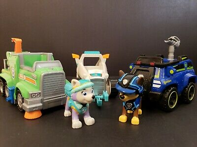 Paw Patrol Ultimate Rescue Rocky Recycle Truck Everest Snowmobile Chase Spy Car