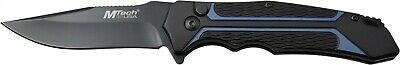 Mtech MT-1134BL Blue Black Aluminum Straight 3Cr13 Folding Pocket Knife