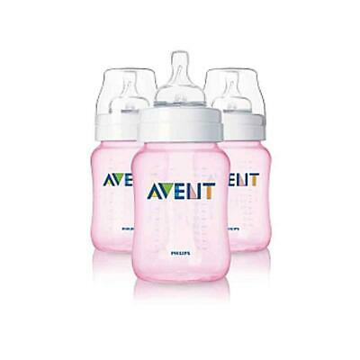 Philips AVENT Anti-colic bottle 9oz, 3 Pack  Pink