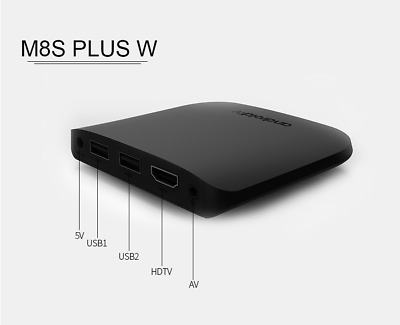 M8S W PRO Android 7.1 MECOOL TV Box 4K Smart Media Player 2.4G WiFi NEW