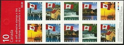 Canada Sc#2080ai Flag over..., Booklet Bk302b, Complet set of 25, Mint-NH