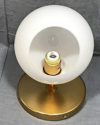 West Elm Antique Brass/Milk Staggered Glass Short Sconce