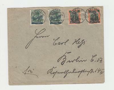DANZIG 1920 COVER  TO BERLIN 60pf RATED  (SEE BELOW)