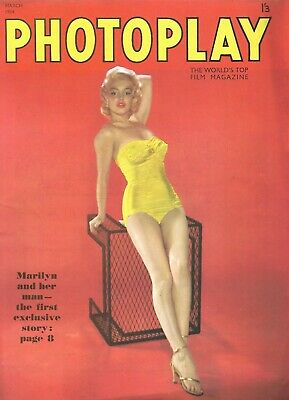 Marilyn Monroe cover/feature Terry Moore Audrey Dalton Abbe Lane 1954 Photoplay