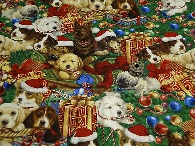 Cotton Novelty Fabric (1/4 Yrd)  Perfect Doggy Christmas trees gifts, Adorable