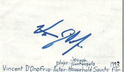 Movies Leonard Frey Actor 1976 Uja Telethon Tv Movie Autographed Signed Index Card