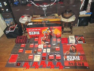 Red Dead Redemption 2 Outlaws Collectors Box Rdr2 Job Lot Guns Hat Rare Items