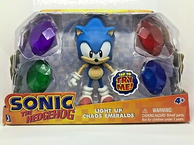 Sonic the Hedgehog 5-Inch Sonic with Light Up Emeralds Figures New