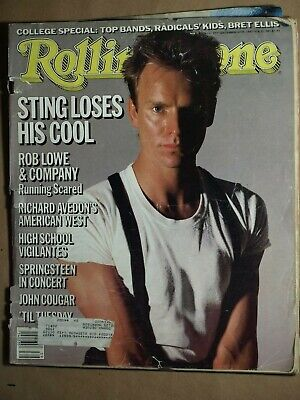 Sting Issue Of Rolling Stone Magazine # 457-September 26Th, 1985