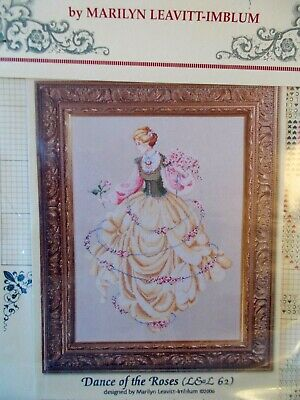 "Cross stitch Chart "" Dances of the Roses  "" New by Lavender & Lace"