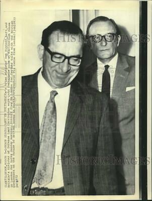 1972 Press Photo Malta's Mintoff and Britain's Carrington meet in London