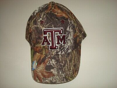 official photos 66e27 1756d Texas A m Aggies Camo Hunting Fishing Golf Hat Cap Adjustable Strapback