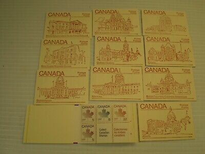 STAMPS CANADA  946b MINT NH VF 10 BOOKLETS PARLEMENT BUIDLING OF EACH PROVINCE