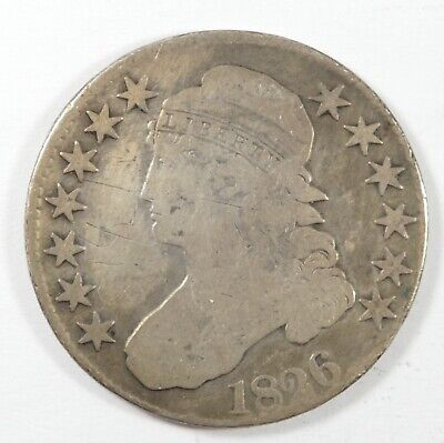 BARGAIN 1826 Capped Bust/Lettered Edge Half Dollar VERY GOOD Silver 50-Cents