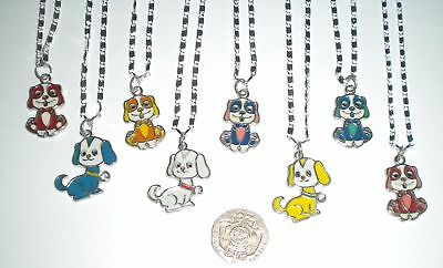New Girl's/ladies Puppy Dog Enamel Pendant Necklace 925 Sterling Silver Chain