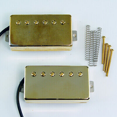 2008 LOLLAR IMPERIAL Humbucker Pickup Set Bridge Neck w/ Gold Covers
