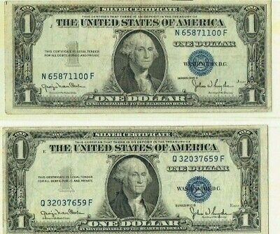 United States Silver Certificates 2 X1935D  Issues