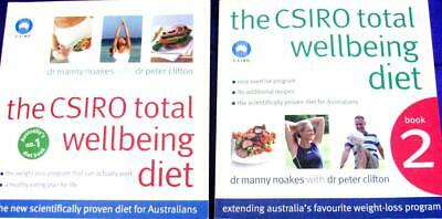 THE CSIRO TOTAL WELLBEING DIET BOOKS  1  &  2    Manny Noakes & Peter Clifton