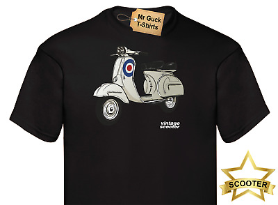 Mens womens T shirt SCOOTER VINTAGE OLD SCHOOL RETRO TRENDY VIBE MODS & ROCKERS