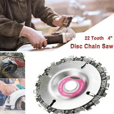 "Grinder Disc 22 Tooth 4""Inch Fine Chain Saw Angle Carving Culpting Wood Cutting"
