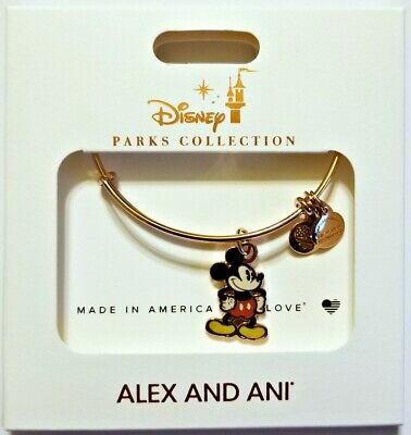 Disney Parks ALEX & ANI bracelet MICKEY MOUSE gold tone - NEW