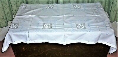 Vintage 1940's-1950's English Hand Embroidered 'cross Stitch' Ottaman Cover