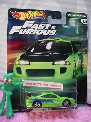 '95 MITSUBISHI ECLIPSE #2/5☆green; toyo☆2019 Hot Wheels PREMIUM B, FAST&FURIOUS