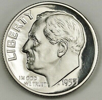 1953 Roosevelt Dime.  Gem Proof.  135024